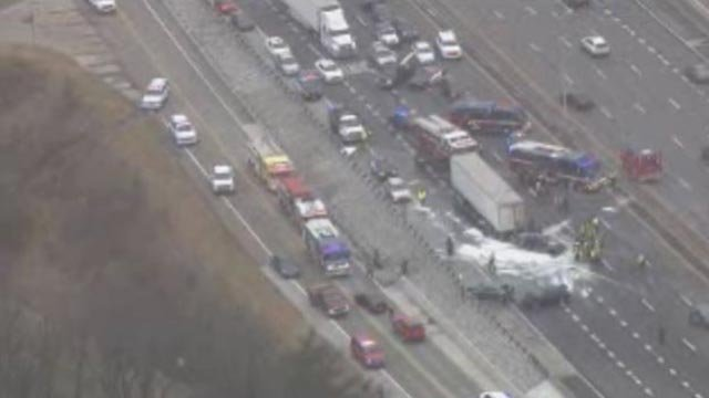 Tractor-trailer crash closes lane near I-81N/17W split