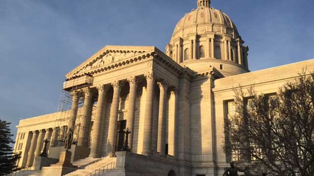 The Missouri statehouse in January, 2018. (Credit: KMOV)