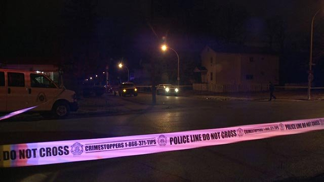 Police in the 5500 block of Wren after a man was shot and killed Tuesday night (Credit: KMOV)