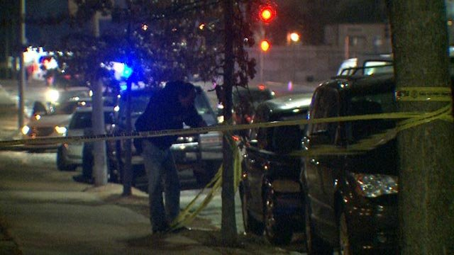 Crime scene tape being up at St. Louis Ave and Grand Wednesday (Credit: KMOV)