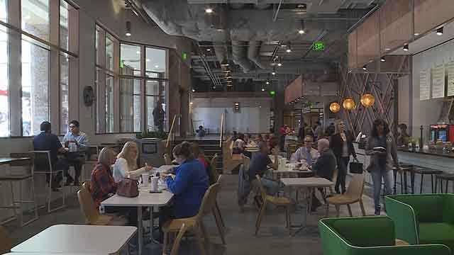 The Eatery is a new food hall opening on street level of the One Metropolitan Square building on N. 6th St. on Monday, Jan. 29. (Credit: KMOV)