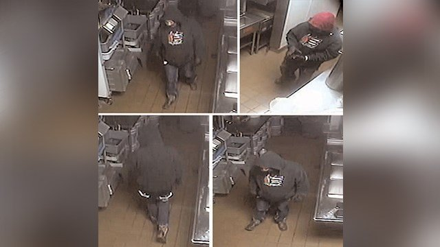 Surveillance images of alleged suspect who robbed a Captain D's in Farmington Mo. (Credit: Daily Journal Online )