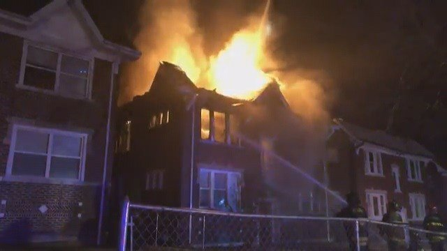 A fire broke out in a home in North St. Louis on Belt Ave. (Credit: St. Louis Fire Department)