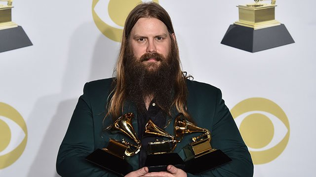 Chris Stapleton will be at Hollywood Casino Ampitheatre Friday, July 13. (Credit: AP)