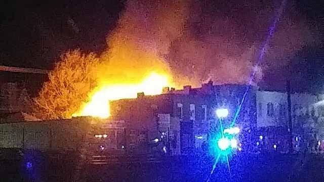 A fire broke in the 600 block of South Main Street in De Soto. Credit: Adam Morgan
