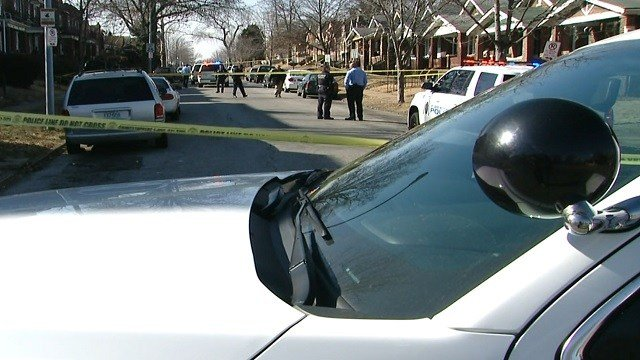 St. Louis officers on scene of a deadly shooting  on Claxton Tuesday (KMOV)