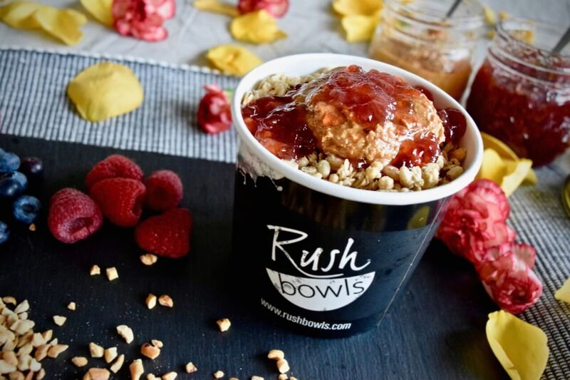 Rush Bowls specializes in smoothie bowls made with fruit, yogurt or acai. (Credit: Rush Bowls)