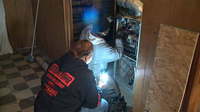 Students from Vatterott College did some home repairs for seniors at no charge on Wednesday. Credit: KMOV