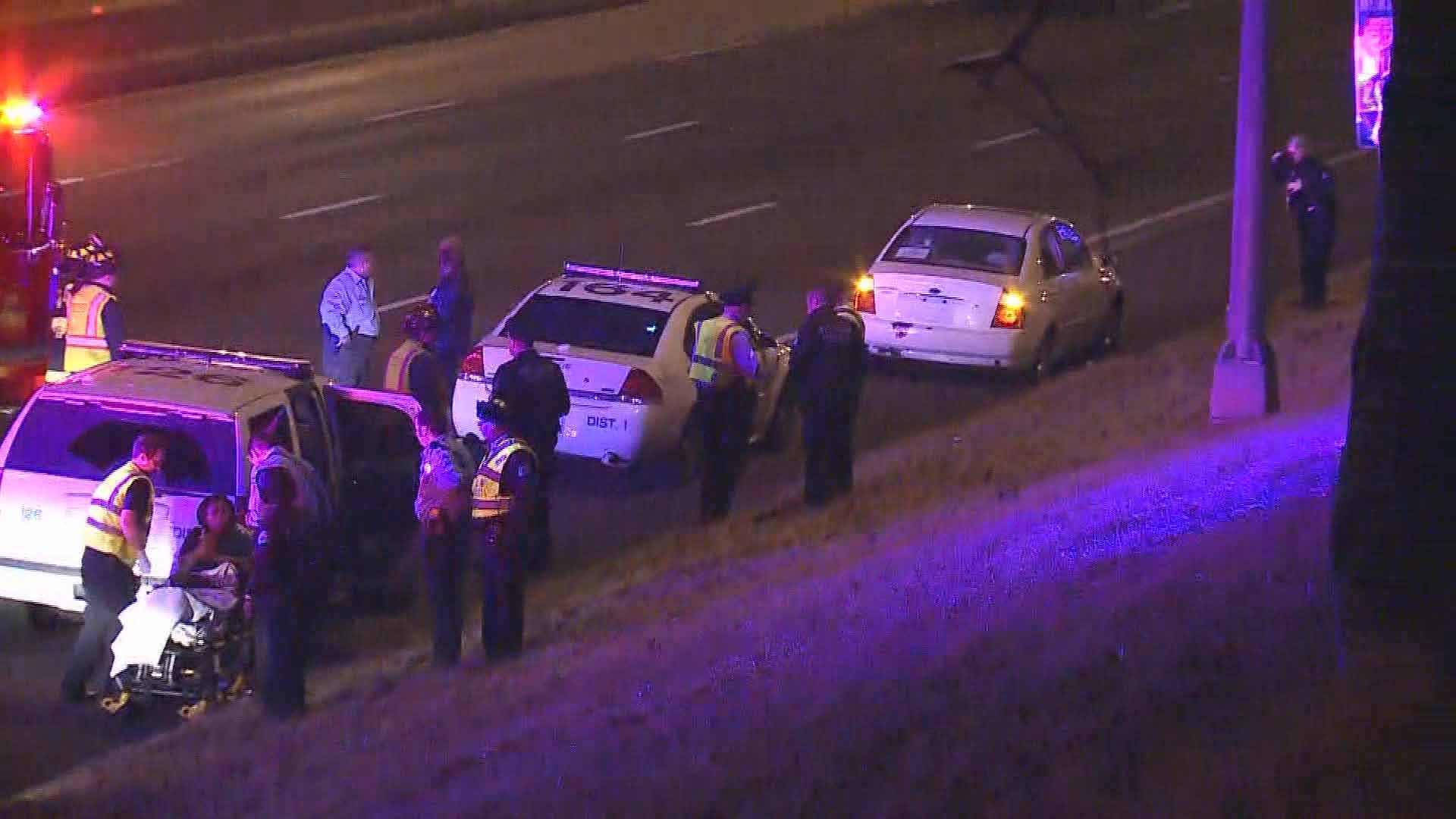 An 18-year-old man was shot on NB I-55 near Virginia in South City Wednesday night. Credit: KMOV