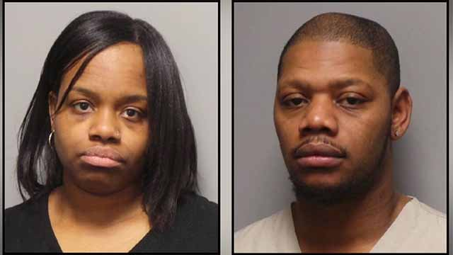 Victoria Thomas, 32, and Barry Crumer, 31, are accused of getting into a fight with a middle schooler at a bus stop in Creve Coeur. Credit: Creve Coeur PD