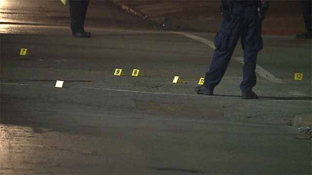 4 people were shot near the intersection of Martin Luther King Drive and Goodfellow just before 7:00 p.m. Wednesday. Credit: KMOV