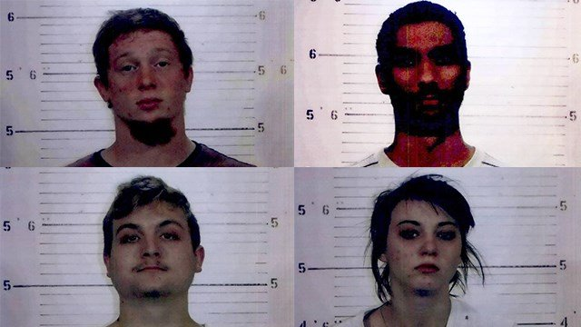 Brandon Shield, Cody Sale and Christopher Reese are charged with burglary, theft over $500 and criminal damage over $500. Emily Strubberg is charged with criminal damage over $500. (Credit: St. Clair County State's Attorney's Office)