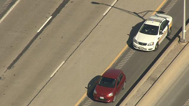 Police on I-255 after a wrong-way driver crashed (Credit: KMOV)