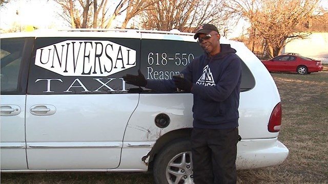 Cab Driver Edward Carpenter speaks with News 4 about the damages to his taxi after a 12 year-old stole it ( Credit:KMOV)