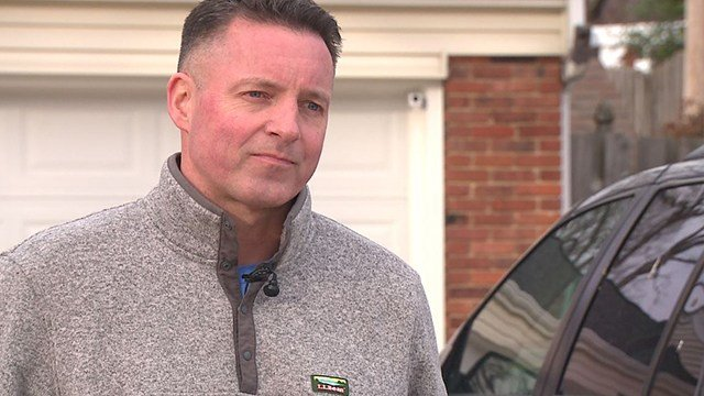 Homeowner Rusty Holliday speaks with News 4 about the recent break-ins in his Kirkwood neighborhood ( Credit:KMOV)