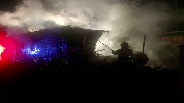 Fire crews were called to Belleville, Ill. to investigate a deadly trailer fire early Monday. (Credit: Belleville FD)