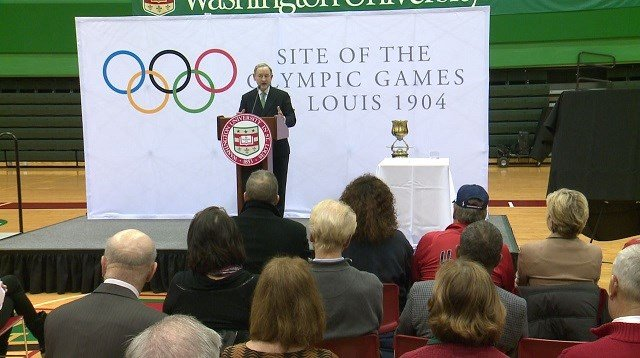 The St. Louis Sports Commission announces plans to commemorate the 1904 Olympics. (Credit: KMOV)