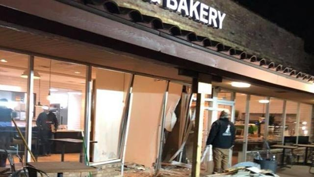 Russell's Cafe & Bakery in Chesterfield was damaged in a crash Monday (Credit: Russell's Cafe & Bakery Facebook)