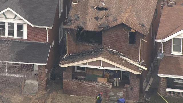 One person was pronounced dead after a fire in the 4300 block of Lafayette Tuesday (Credit: KMOV)