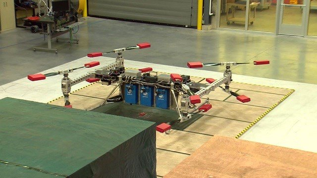 The drone weighs up to 800 pounds. (Credit: KMOV)