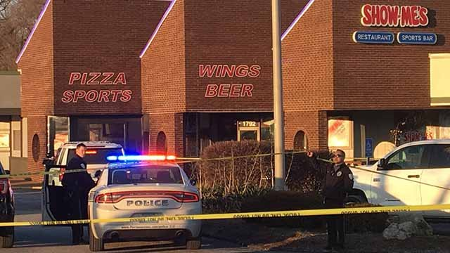 1 person was killed and another was wounded in a shooting at Show-Me's in Florissant Wednesday. Credit: KMOV