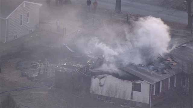 A home 3000 block of Becker Road of South County is a total loss after a fire on Wednesday. Credit: KMOV