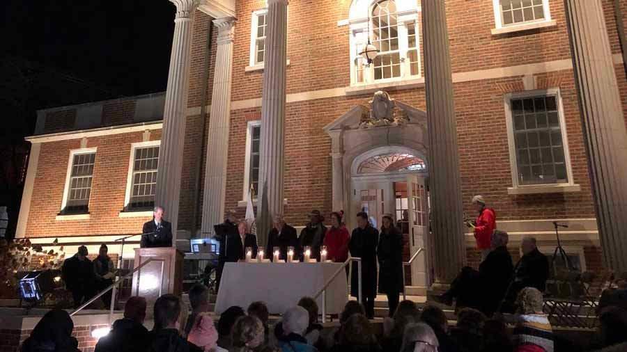 A candle was lit for each life lost. Credit: KMOV