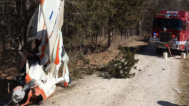 A small plane crashed in Lincoln County Thursday (Credit: Wright City Fire / Twitter)