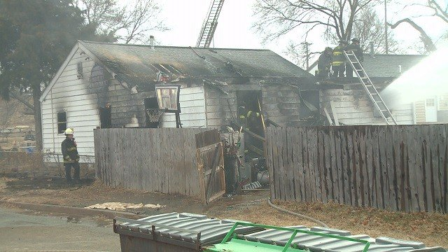A teenager was injured in a house fire in South St. Louis Friday. (Credit: KMOV)