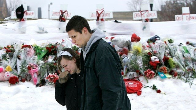 On Saturday, Feb. 14, 2009, the university plans a a day of activities, including a commemoration ceremony, candlelight vigil and memorial wreath laying to mark the one year anniversary of the tragedy. (Credit: AP Photo/Charles Rex Arbogast)