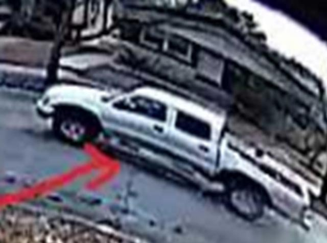 Truck the suspected package thief was seen getting into (Credit: St. Louis Police)