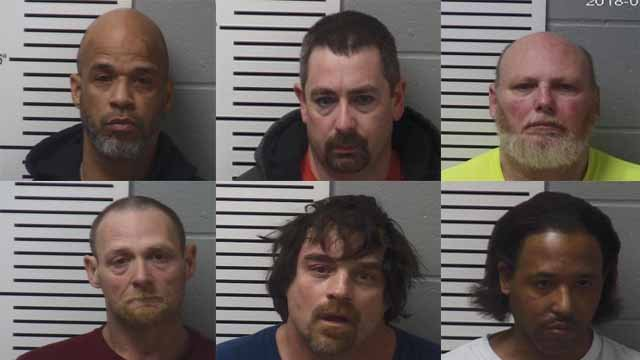The Lincoln County's Sheriff's Office Sex Offender Compliance Unit arrested six sex offenders over the weekend for failing to comply with the Missouri State registration requirements. (Credit: Lincoln County's Sheriff's Office)