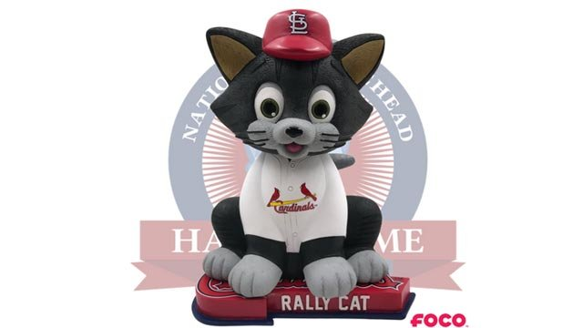 Only 360 limited-edition Rally Cat bobbleheads are available for purchase (Credit: National Bobblehead Hall of Fame & Museum)
