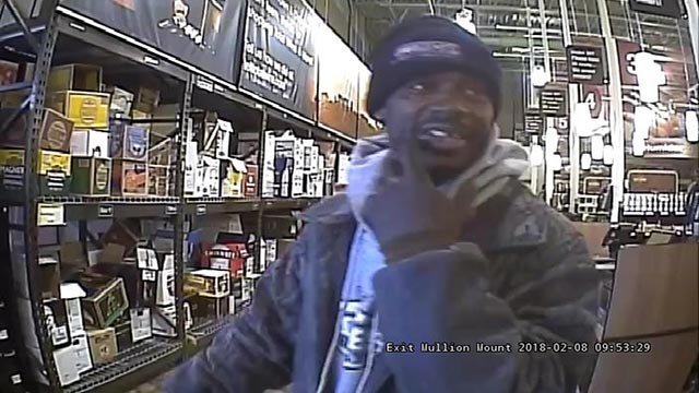 Surveillance photo of a theft suspect from Total Wine on Feb. 8 (Credit: Town & Country Police)