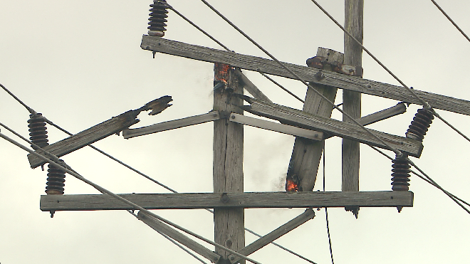 15 power poles were damaged by fires leading to power outages across the metro