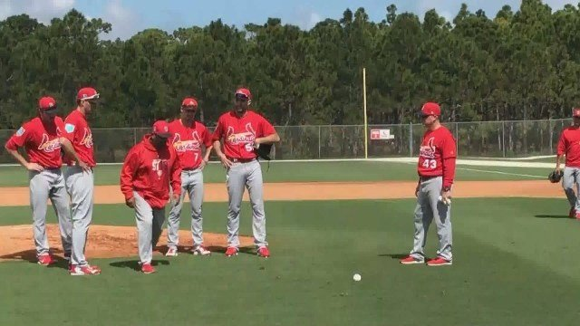 A workout during day one of Cardinals Spring Training in 2018. Credit: KMOV