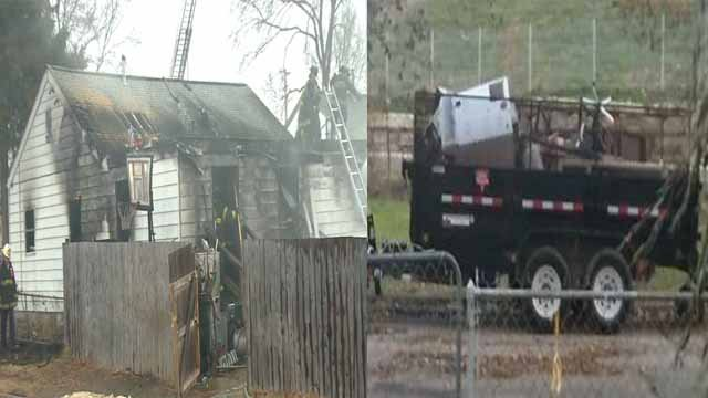 Within the span of a few days, the Draper family home caught on fire and a trailer belonging to them was stolen, Credit: KMOV