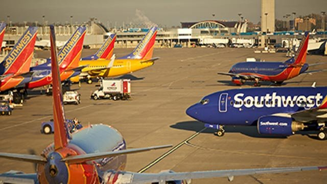 Southwest Airlines plans at the airport (Credit: St. Louis Lambert International Airport)