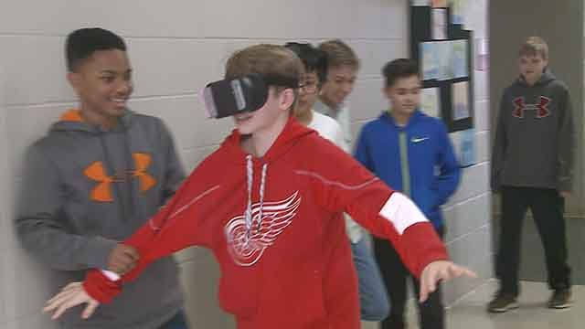 How would you like to fly a drone for a class project in grade school?(Credit: KMOV)