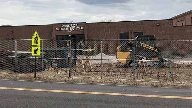 Security upgrades made at Windsor Middle School. Credit: KMOV