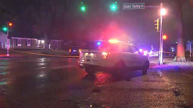 Police are on the scene of a stabbing that happened in the 12400 block of Marine in Maryland Heights on Thursday. Credit: KMOV