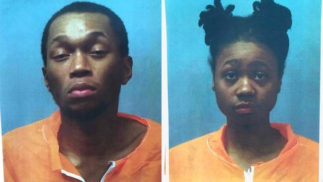 Police have charged 20-year-old Traveon Sims (left) and 21-year-old Onyai Turner (right) with murder. (Credit: St. Louis County police)