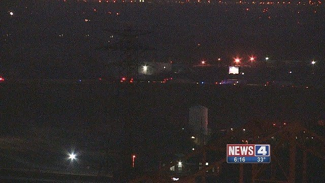 A pedestrian was struck on Stan Musial Bridge early Sunday morning. (Credit: KMOV)