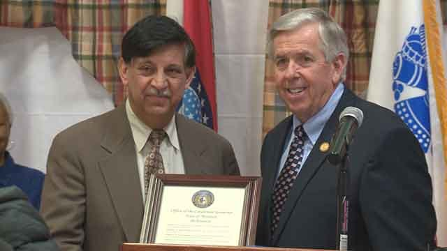 The Missouri Lieutenant Governor paid a visit veterans in north St. Louis County.(Credit: KMOV)