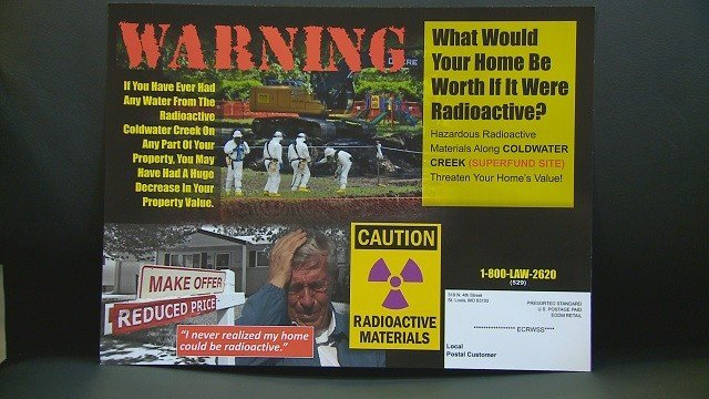 A flyer being sent to residents near the landfills (KMOV)