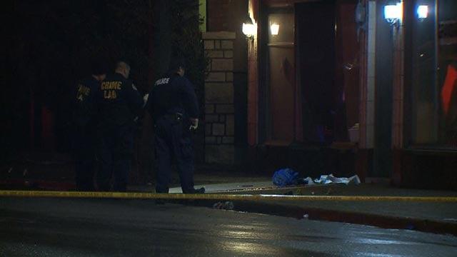 Investigators at Morganford and Ellenwood after a man was shot Thursday (Credit: KMOV)