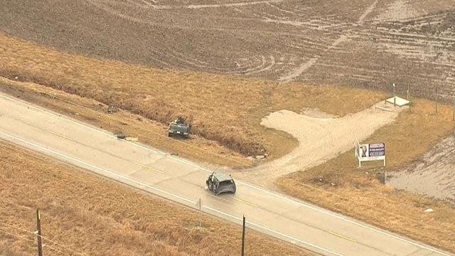 Crash on Highway 40 in Highland Friday morning (Credit: KMOV)