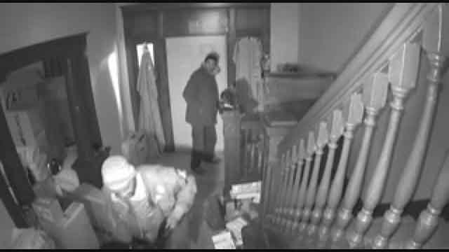 Detectives are looking for two men involved in a burglary and theft of a woman's home in north St. Louis. (Credit: SLMPD)