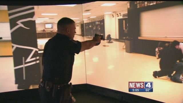 The O'Fallon, Mo. police are simulator to practice for a school shooting. Credit: KMOV