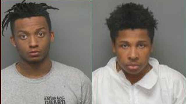 Tyler Robinson, 20, and Trevon Cartwright, 19, are both charged with first-degree robbery. Credit: University City Police